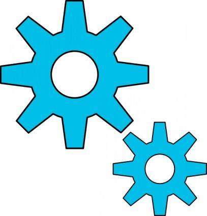 Gears Motion Motor Engine clip art
