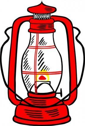 Red Hurricane Lamp clip art