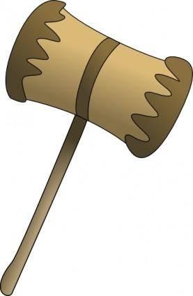 Wooden Mallot clip art