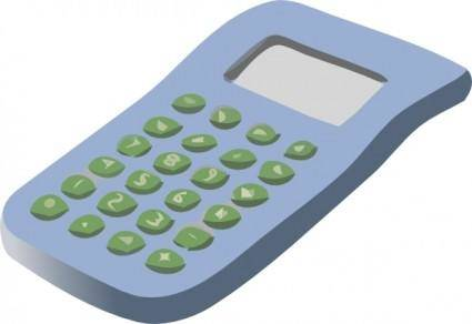 Simple Calculator clip art