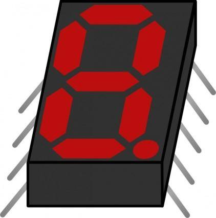 Electronic Seven Segment Display clip art
