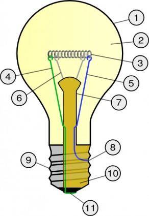 Incandescent Light Bulb clip art