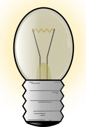 free vector Electronic Light Bulb clip art