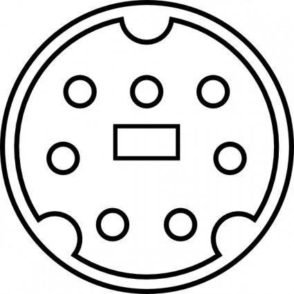 free vector Minidin Interface Pin Layout clip art
