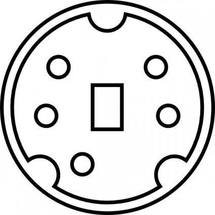 free vector Minidin Diagram clip art