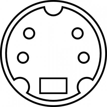 Minidin Diagram clip art