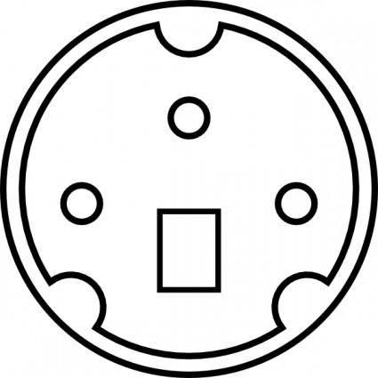 Minidin Diagram clip art 116132