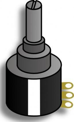 free vector Electronic Variable Resistance clip art