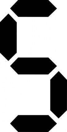 free vector Seven Segment clip art