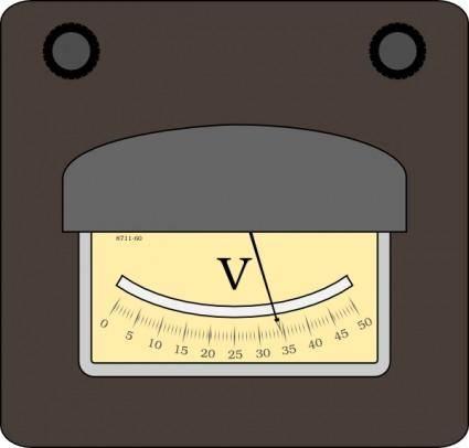 Voltmeter clip art