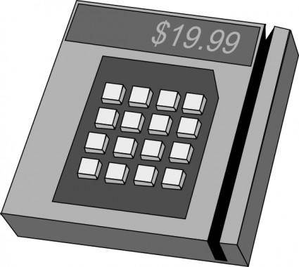 free vector Credit Card Machine clip art