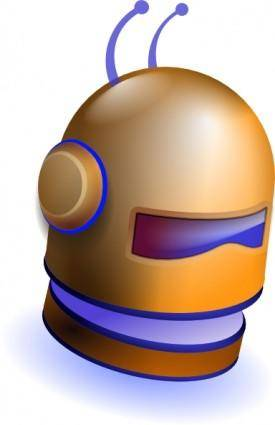 Robot Head clip art