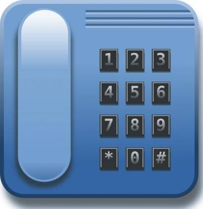 free vector Blue Phone clip art