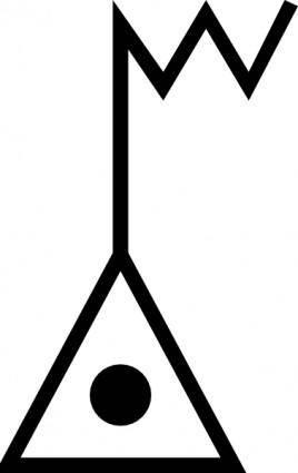 Japanese Map Symbol Electronic Datum Point clip art