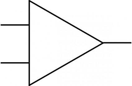 Opamp Symbol clip art