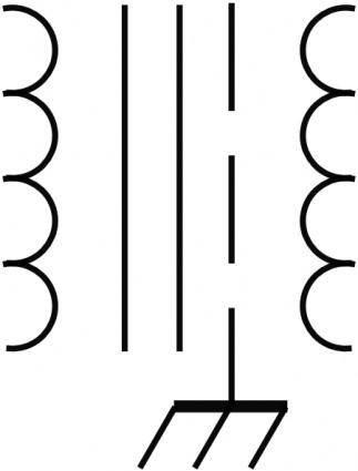 Transformer Symbol clip art