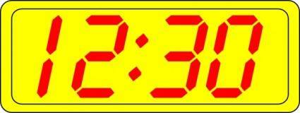 Digital Clock 12:30 clip art