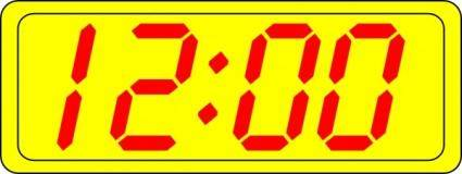 Digital Clock 12:00 clip art