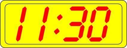 free vector Digital Clock 11:30 clip art