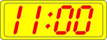 free vector Digital Clock 11:00 clip art
