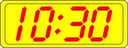 Digital Clock 10:30 clip art
