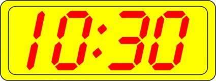 free vector Digital Clock 10:30 clip art