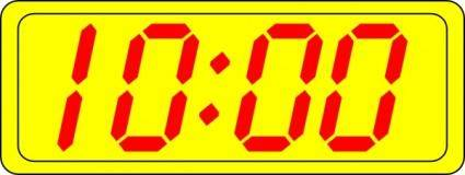 free vector Digital Clock 10:00 clip art