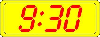 Digital Clock 9:30 clip art