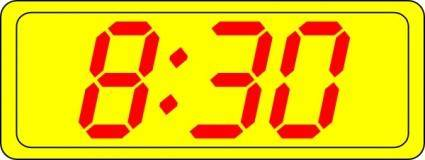 free vector Digital Clock 8:30 clip art
