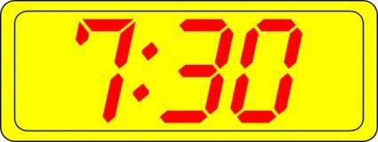 Digital Clock 7:30 clip art