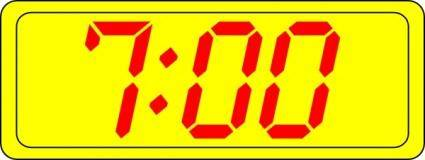 Digital Clock 7:00 clip art