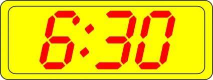 free vector Digital Clock 6:30 clip art