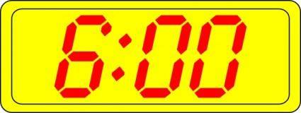 Digital Clock 6:00 clip art