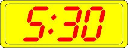 Digital Clock 5:30 clip art