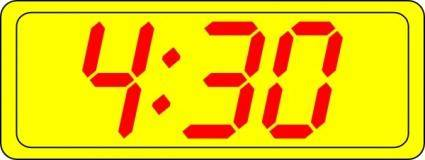 Digital Clock 4:30 clip art