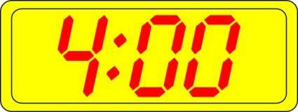 Digital Clock 4:00 clip art