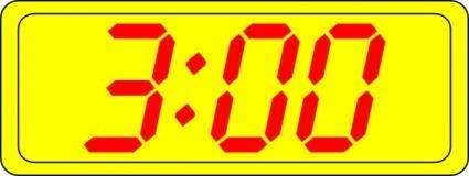free vector Digital Clock 3:00 clip art