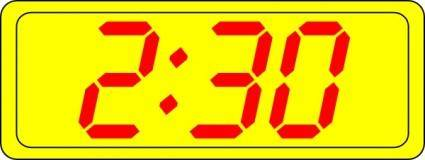 free vector Digital Clock 2:30 clip art