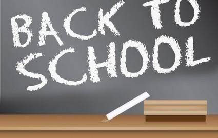 Back to School Blackboard Sign design