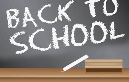 free vector Back to School Blackboard Sign design