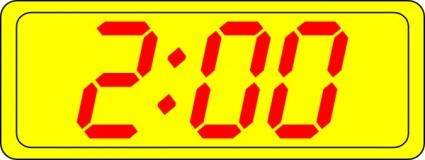 Digital Clock 2:00 clip art