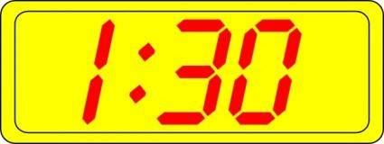 Digital Clock 1:30 clip art