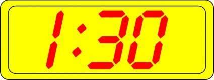 free vector Digital Clock 1:30 clip art