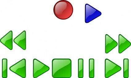 Vcr Dvd Player Buttons clip art