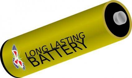 free vector Long Lasting Battery clip art