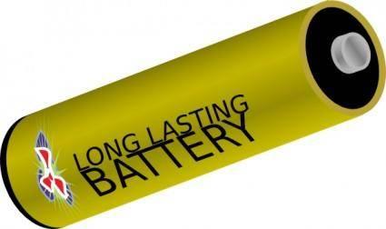 Long Lasting Battery clip art