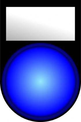 Mp3 Player Blue Light clip art
