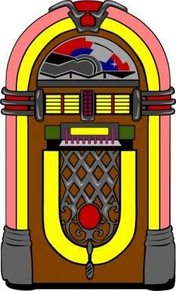 free vector Fifties Jukebox clip art