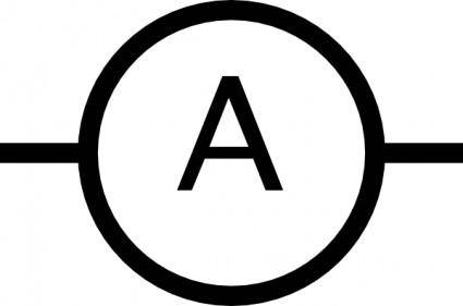 Ampere Meter Symbol clip art