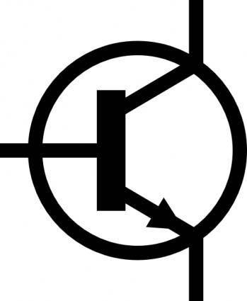 Npn Transistor Symbol clip art